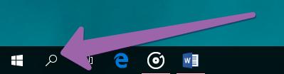 Открытие Поиска Windows 10